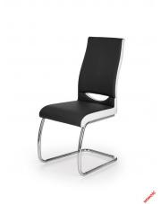 czarno - białe krzesło do jadalni
